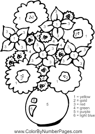 Small Picture flowers color by number page Color by Number for Adults and