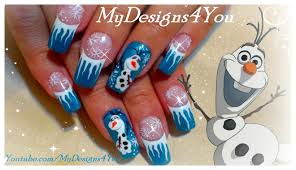 Disney, Olaf, Frozen Nail Art Design | Winter Nails ♥ Снеговик ...