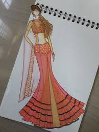 Skirt N Top Designs Yock With Mermaid Skirt N Draped Crop Top With Collar