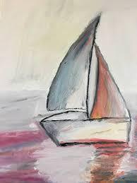 saatchi art artist erin saunders painting abstract sailboat art