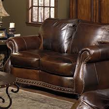 Living Room Antique Leather Sofa Victorian Style Office Furniture