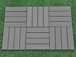 eco friendly diy deck. Abba Patio 12 X Inch Outdoor Four Slat Wood-Plastic Composite Interlocking Decking Tile, 6 Pieces One Pack, Dark Grey - Amazon.com Eco Friendly Diy Deck