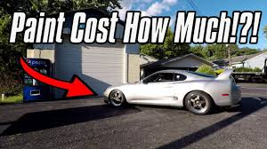 how much does it cost to paint a toyota supra