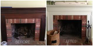 i m so super excited about our fireplace now that i finally painted it imately upon laying eyes on it the first