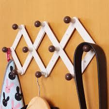 Metal Accordion Coat Rack Clothing Hooks amazing expandable wall rack Wood Accordion Wall 34