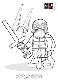 Small Picture Disegni da Colorare LEGO Star Wars the Force Awakens Kylo Ren