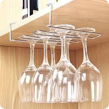 wine glass rack new stainless steel wine glass holder under cabinet wall wine rack storage organizer