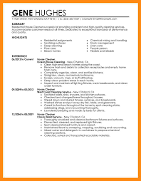 15 Sample Cleaning Resume Dtn Info