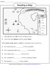 Reading a Map: Cardinal Directions
