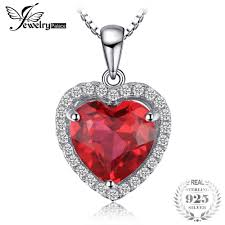whole jewelrypalace heart 3 9 ct created red ruby love forever halo pendant solid 925 sterling silver fine jewelry not include a chain s18101308 letter