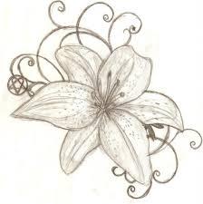 drawn bouquet lily bouquet 102213