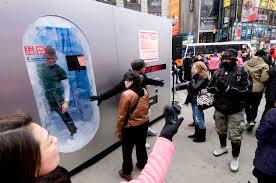 Uniqlo Vending Machine Enchanting LSN News Human Vending Uniqlo Dispenses Clothing Outdoors