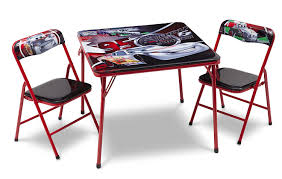 children wood metal folding table chair set blue co uk disney cars metal table and chair set