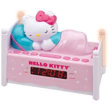 Hello Kitty Digital Am Fm Clock Radio With Night Light Hello Kitty Sleeping Kitty Dual Alarm Clock Radio With Night