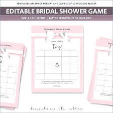 Wedding Layout Generator Bridal Shower Bingo Template Wedding Shower Bingo Board Blank Bingo