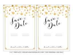 save the date template free download modern diy save the date free printable mountainmodernlife com