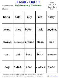 Word Games Worksheets   High Frequency Word Games Worksheets