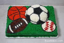 sport football cake sports balls birthday cake buttercream sheet cake soccer baseball basketball football LDKnOi