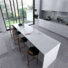 whole engineered stone white marble look quartz slab for countertops
