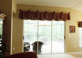 remarkable valances for sliding glass doors at window above enchanting treatments