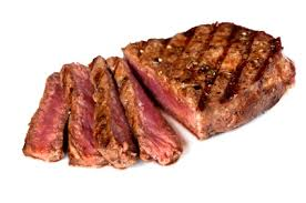 cooked steak with white background. Perfect Cooked Steak In Cooked With White Background
