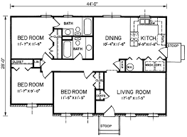 southern 3 beds 2 baths 1200 sq ft plan 66 248 main floor plan