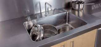 stainless steel countertop with integrated sink. FULLY INTEGRATED STAINLESS STEEL SINKS And Stainless Steel Countertop With Integrated Sink