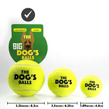 com the big dog s balls large yellow tennis balls com the big dog s balls 3 large yellow tennis balls premium strong dog toy ball for dog fetch play large dogs balls too big for chuckit