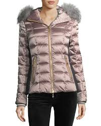 Women's Quilted Jackets & Puffer Coats at Neiman Marcus & Bogner Sport Lena Hooded Shiny Quilted Puffer Coat Adamdwight.com