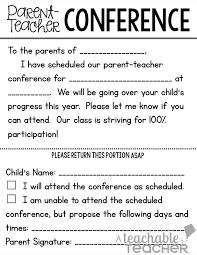 Letter Template For Parent Teacher Conference Best Form Download