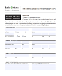 22+ Insurance Verification Forms In Pdf