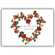 Kondolenzkarte Mit Rosen Herz Für Ein Herzliches Beileid