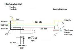 wire a ceiling fan and light diagram