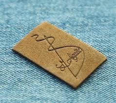custom microfiber suede leather labels