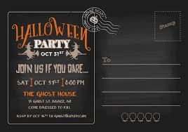 Party Rsvp Template Halloween Party Rsvp Postcard Invitation Template Download