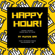 Happy Hour Invitation Template Yellow Beer Icons Happy Hour Invitation Templates By Canva