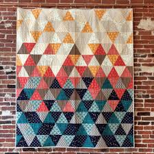 Sew with equilateral triangles in this fun, modern quilt pattern ... & Sew with equilateral triangles in this fun, modern quilt pattern. Cut  triangles with a Adamdwight.com