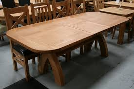 rustic country extending dining table oak coma frique studio