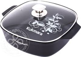 Купить <b>Кастрюля</b>-<b>жаровня</b> Kukmara Titanium Pro литая с <b>крышкой</b> ...