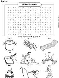 Word Family Coloring Pages Ot Word Family Word Search Coloring Sheet Phonics Worksheet