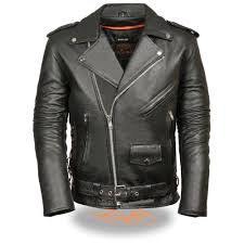 leather king men s classic side lace police style motorcycle jacket l large sh1011 com