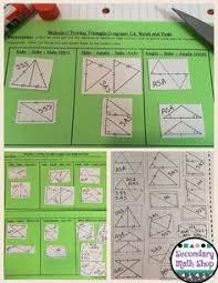 congruent triangles congruency methods cut paste act interactive ntbk pgs