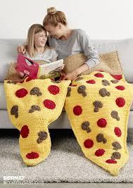 Crochet Pizza Blanket Pattern
