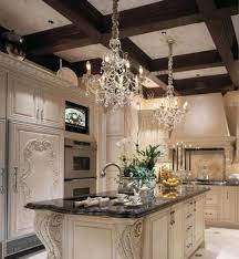 crystal chandelier over kitchen island intended for your property
