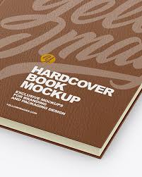 Download all 1,072 book mockup graphic templates unlimited times with a single envato elements subscription. Hardcover Book W Leather Cover Mockup In Stationery Mockups On Yellow Images Object Mockups