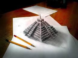 رسومات عن السياحة فى مصر بالرصاص شرح رسم الأهرامات