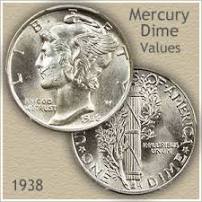 1938 Dime Value Chart 1938 Dime Value Discover Your Mercury Head Dime Worth