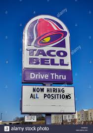 taco bell sign. Interesting Sign Large Taco Bell Restaurant Sign With Logo And Message Board Now Hiring All  Positions For Sign S