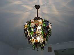 image of beer bottle chandelier review