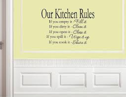 our kitchen rules vinyl wall decals